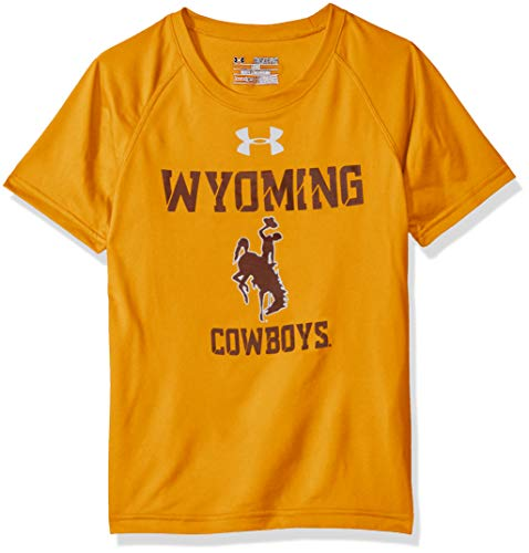 Under Armour NCAA Wyoming Cowboys Youth Short Sleeve Tech Tee, Large, Steeltown Gold