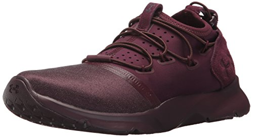Under Armour Women's Drift 2 X Mnswr Sneaker, Raisin Red (500)/Beige Canvas, 7.5 by Under Armour