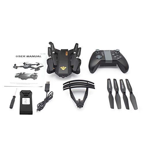 VISUO XS809HW 2.4G Faltbarer FPV-Selfie-Drohne-RC-Quadcopter mit Wifi-Kamera Höhenlage Headless-Modus 360 ° -Flips - Schwarz