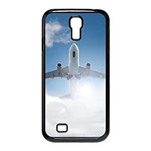 Airplane Shell Phone for samsung galaxy s4 Black Cover Phone Case [Pattern-6]