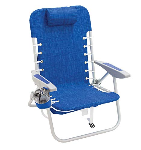 RIO Gear 4-Position Lace-Up Backpack Folding Chair - Blue