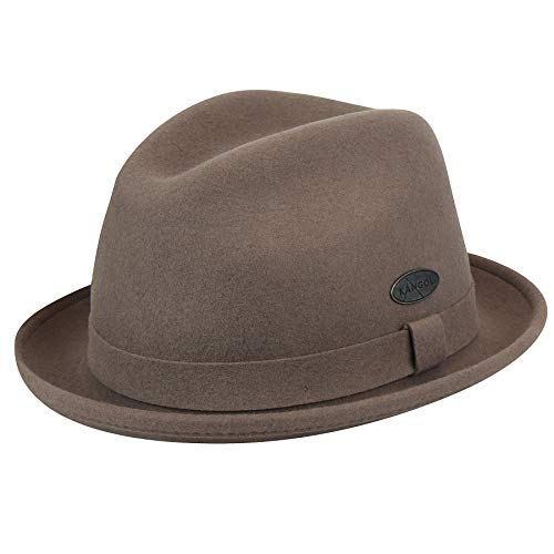Player Kangol Wool - Kangol Men's Lite Felt Player Fedora Trilby Hat, Cocoa, L
