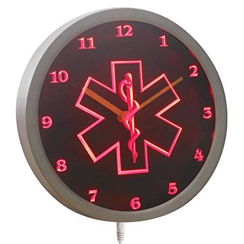 ADVPRO nc0713-b EMS Paramedic Neon Sign LED Wall Clock