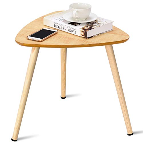 Giantex Nesting Table End Table Coffee Table Sofa Side End Accent Table W/ Triangle Top Home Living Room Furniture
