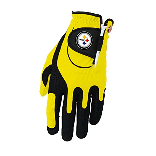 Zero Friction NFL Pittsburgh Steelers Golf Glove, Left Hand by Sportsman Supply Inc.