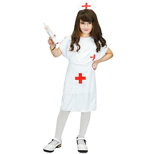Doctor Role Play Costume Set (7-9Years, white) (Nurse Costume For Kids)