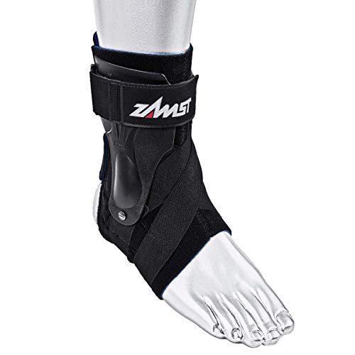 Zamst Ankle Brace Support Stabilizer: A2-DX Mens & Womens Sports Brace for Basketball, Soccer, Volleyball, Football & Baseball ,Black,Right,X-Large