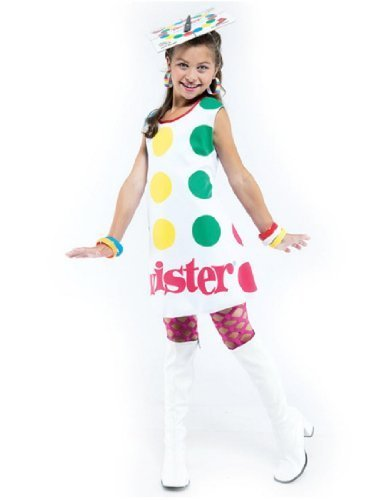 Halloween Twister Costume (Paper Magic Girl's Twister Costume Child 10-12 White and Multi)