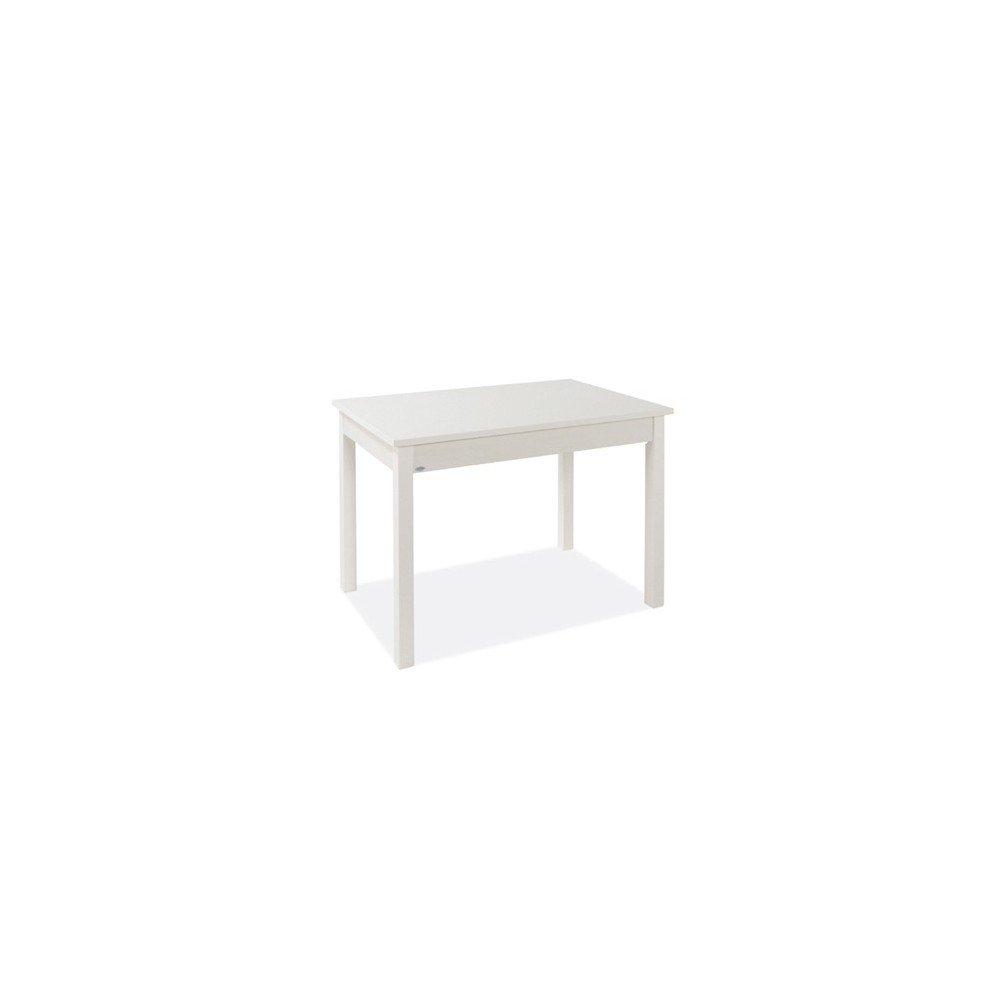 Tavolo Pranzo Allungabile Bianco Frassinato Legno Nobilitato Cm 60x90/120 Argonauta
