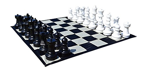MegaChess Giant Premium Chess Set with a 25 Inch Tall King - Black and White by MegaChess