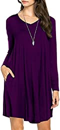 Amazon.com: Purple - Casual / Dresses: Clothing Shoes &amp Jewelry