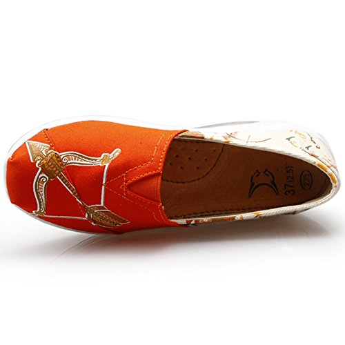 Scarpe Da Ginnastica Moda Donna Slip On Elasticity Cuscino Daria Casual Scarpe Da Sveglie Di Btrada Orange