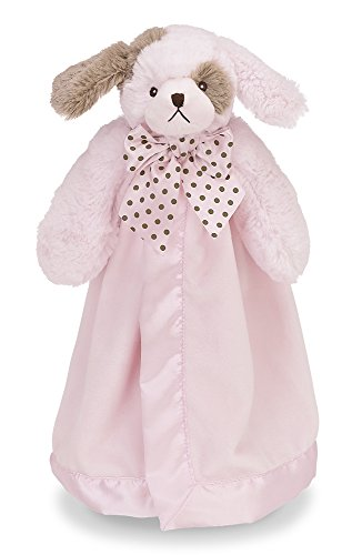 Bearington Baby Wiggles Puppy Snuggler, Plush Security Blanket, Lovey (Pink) 15