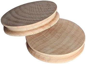 Starall 2 pcs bricolage bois massif naturel Leathercraft outils bois bord slicker brunissoir ensemble pour le travail du cuir