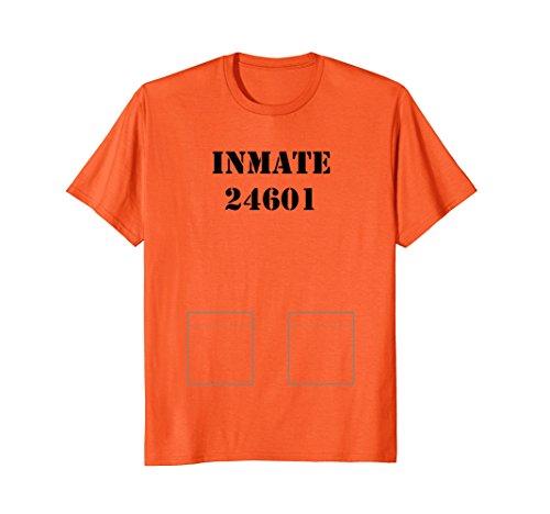 Mens Prisoner, Prison Inmate Costume Tshirt - Easy Halloween Idea Small -