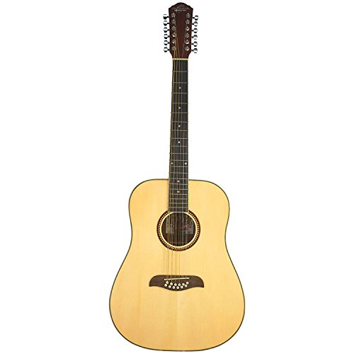 Oscar Schmidt OD312 Natural 12-String Dreadnought Guitar- Na