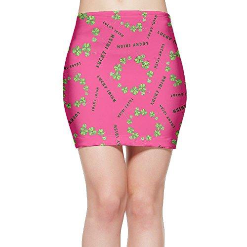 SKIRTS WWE Lucky-Shamrock Women Slim Fit High Waisted Mini Short Skirts by SKIRTS WWE