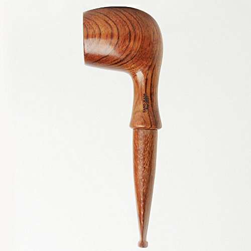 Handmade Kevazingo Wooden Tobacco Pipe Durable Straight wood Smoking Pipe with (Antique Smoking Pipes)