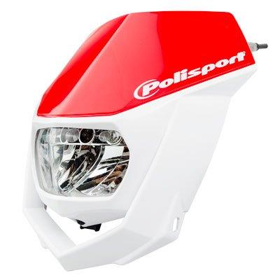Polisport Led Halo Headlight - Red/white