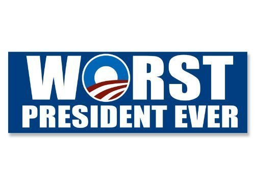 NOBAMA: Worst President Ever Bumper Sticker (anti obama decal)