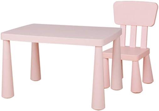 SSHHM Juego de mesa y silla para niños,Mesas de Educación Infantil,Habitación de Los Niños,Muebles Preescolar 2-10 Años de Edad Utilización Durable/rosado / 1table + 1chair: Amazon.es: Bricolaje y herramientas