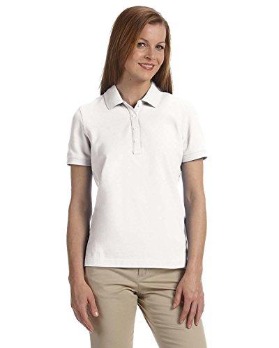 Women's Slim-cut Ashworth Classic Solid Pique Polo, White, M