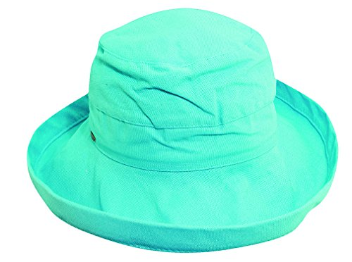 Kinder Caps Girl's Cotton BB Petite Sun Hat OS Green - Cotton Petite Hat