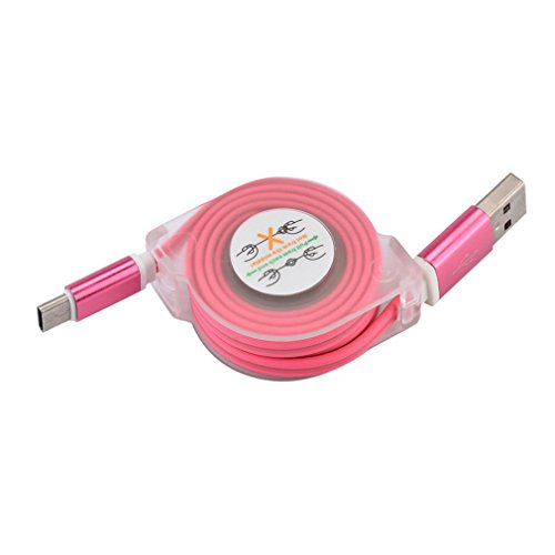 3.0A Hi-speed USB 2.0A Male to Micro USB Sync Charging Cable (Pink) - 2