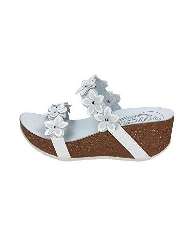 IGI&CO 19001 bianco zoccoli ciabatte sandali donna zeppa