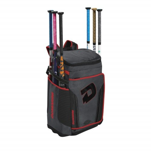 DeMarini Special Ops Backpack, Charcoal/Scarlet