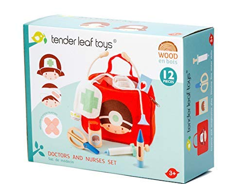 12 Pc Medical Bag Set - Doctor and Nurse Pretend Play Toy Medical Kit - Made with Premium Quality Materials - Promotes Imaginary and Creative Roleplay, Helps to Create Health Awareness - Ages 3+ by Tender Leaf Toys (Image #4)