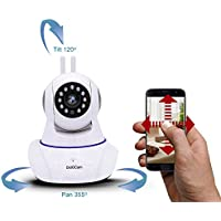 Dot.Cam 720P HD WiFi IP Camera Indoor,IP Wireless Security Surveillance 355° panorama view,with Baby Monitor Video, Plug & Play, Two-Way Audio & Nightvision, Motion Detection with Instant Alert