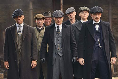 HandTao Peaky Blinders British Crime Drama Serie de TV Tela Tela Cartel de la pared Foto Impresión 47x32 Pulgada