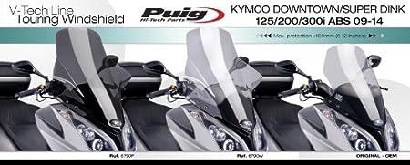 X-Town 125,300 2016- Puig 6790W 6790W Pare-Brise Touring Kymco Downtown 125i,300i ABS//Superdink 125i,300i ABS 2009- Nuevo Gran Dink 125,300 2016 Transparent Set