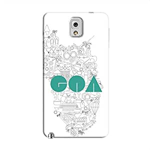 Cover It Up Goa Hard Case For Samsung Galaxy Note 3, Multi Color