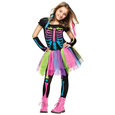 Fun World Funky Punky Bones Costume, X-Small, Multicolor: Toys & Games