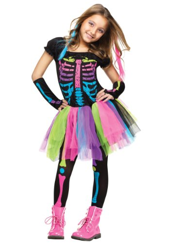[Fun World Funky Punk Bones Child's Costume Medium (8-10)] (Little Girl Skeleton Costumes)