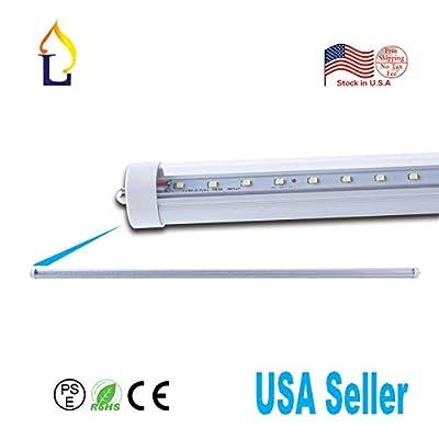 4 Pack LED T8 6 Feet Tube Lamp Ballast Bypass 6FT Fa8 Base (Single pin) 60W White daywhite Led T8 V Shape Tube Light,Under Cabinet Lamp Fluroscent Replacement