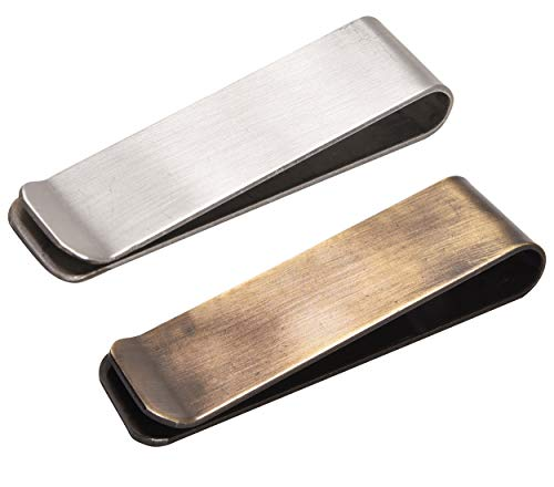 Stainless Steel Money Clips for Men and Women - Front Pocket Minimalist Slim Credit Card Card Holder Small Cash Clip