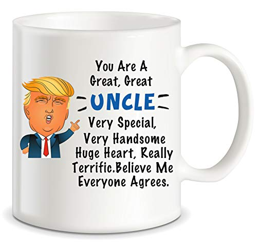 Uncle Gifts from Niece Nephew for Worlds Best and Awesome Uncles Ever Donald Trump Terrific Uncle Funny Gag Gift Idea Ceramic Coffee Novelty Mug Tea Cup for Fathers Day Christmas or Birthday