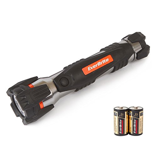 EverBrite LED Flashlight Cool 1W Impact Aluminum Torch Battery Operated 2 C-cells Included