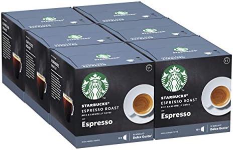 STARBUCKS Espresso Roast De Nescafe Dolce Gusto Cápsulas De Café De Tostado Intenso, 6 X Caja De 12 Unidades: Amazon.es: Alimentación y bebidas