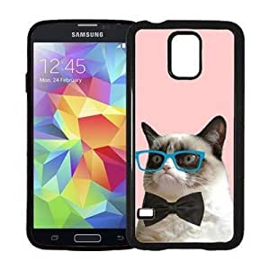 Houseofcases Hipster Grumpy Cat Geek Glass Bowtie Samsung Galaxy S5 Case - Fits Samsung Galaxy S5