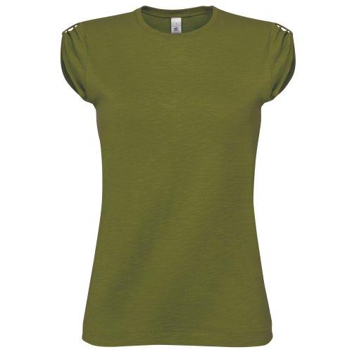 B&C Camiseta de manga corta Too chic para chica/mujer Verde