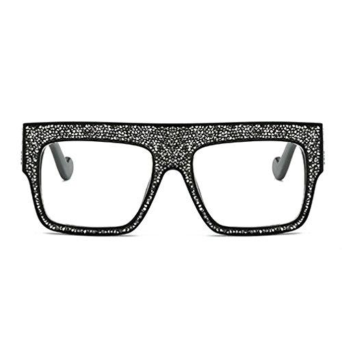 Señoras Hombres Mujeres Lujo Las C5 Rhinestones Nuevo Gafas Moda Gran De Gafas Grande De Cool Tamaño De De Marco Unisex Sol Tide rqXERfr