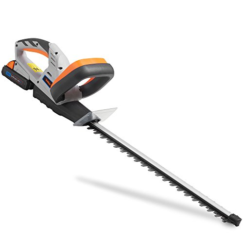 VonHaus Cordless Hedge Trimmer/Cutter with 20V MAX Battery, Charger & Blade Cover - Includes Dual Action Lazer Cut Blades, Soft Grip Handle & Anti Vibration System