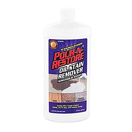 Concrete Stain Remover >> Amazon Com Pour N Restore Pnr32oz 06 Oil Stain Remover 36 Oz Pack