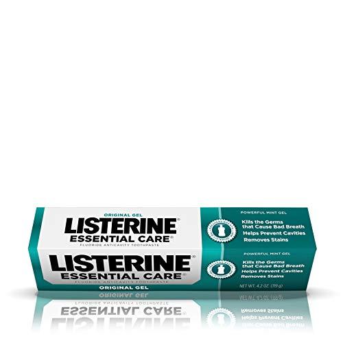 Listerine Essential Care Original Gel Fluoride Toothpaste, 4.2 Ounce (Pack of 6)