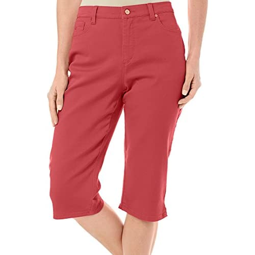 d04eb92d43e Gloria Vanderbilt Women s Amanda Average Colored Denim Skimmer Capri hot  sale