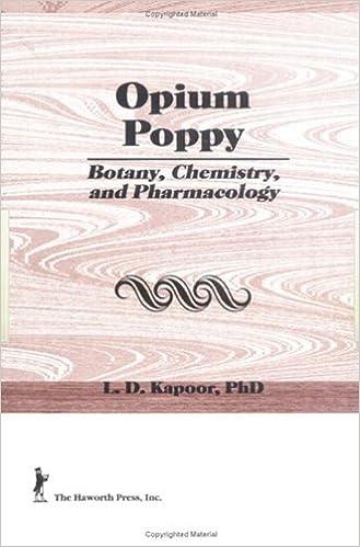 Book Opium Poppy: Botany, Chemistry, and Pharmacology